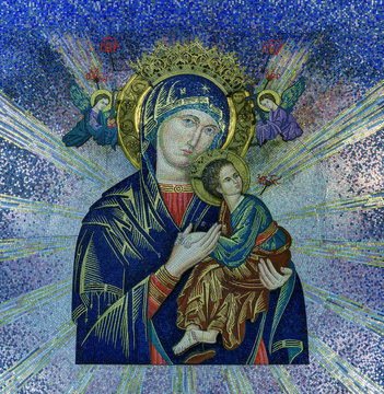 Our Lady of Perpetual Help tile mosaic