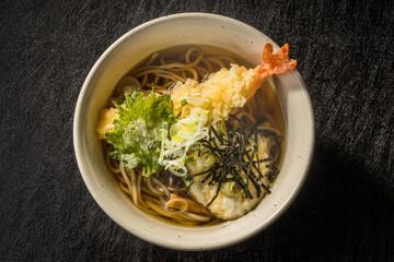 天そば  Dish of tempura soba japanese food