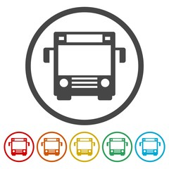 Bus symbol, Bus icon vector