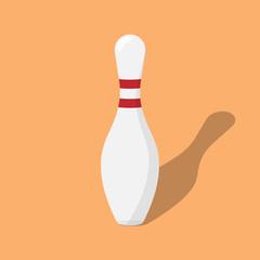 bowling pin. flat icon vector.