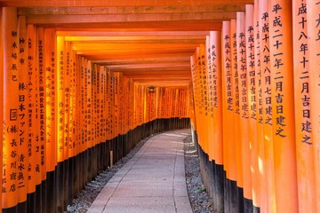 Wall Murals Kyoto Fushimi Iniari Shrine in Kyoto, Japan