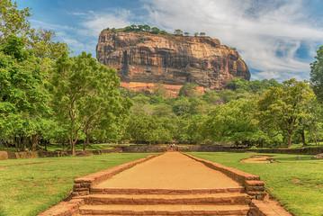 Sri Lanka: ancient Lion Rockfortress in Sigiriya or Sinhagiri