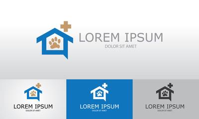 home pet dog medical logo