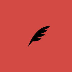 feather icon.flat design
