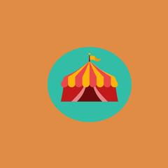 circus building icon.flat design
