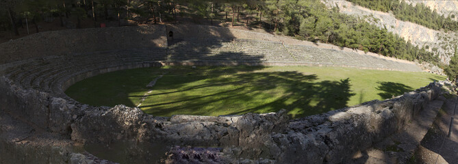 Ancient Greek archaeological site of Delphi,Central Greece.