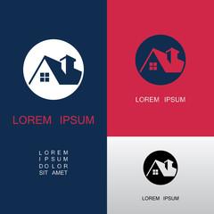 home building icon vector logo