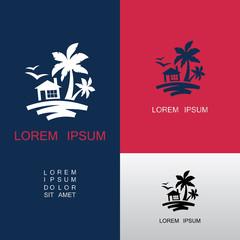 home beach nature logo