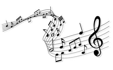 Musiknoten - Melodie