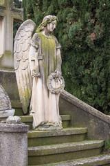 Statue in cemetery of zaragoza in spain
