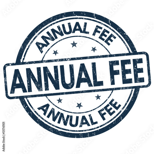 """Annual Fee Sign Or Stamp"" Stock Image And Royalty-free"