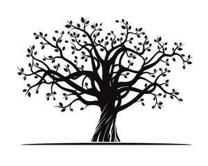 Black Tree. Vector Illustration