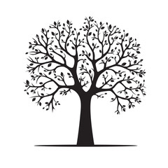 Black Tree. Vector Illustration