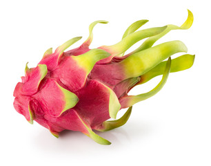 pitaya or dragon fruit isolated on the white background