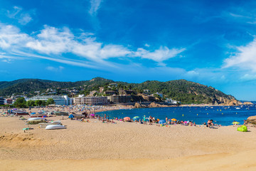Beach at Tossa de Mar, Spain
