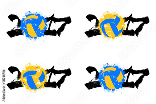 """Volleyball Abstract Stock Photos Volleyball Abstract: """"Abstract Set Number 2017 And Volleyball"""" Stock Image And"""