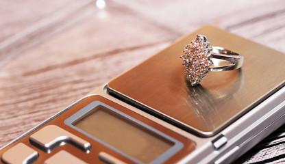 Tools of jewellery. Beautiful ring.