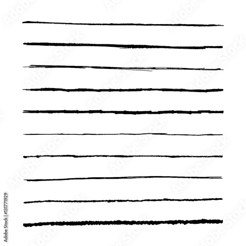 Drawing Straight Lines With Brush In Photo : Quot set marker lines vector templets hand drawing brushes