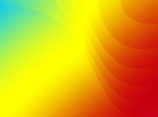 A simple fractal background with a rainbow gradient, elegant curves and space for text. Suitable as a template, layout, for web design, leaflets, pamphlets, book covers, presentations, PC background