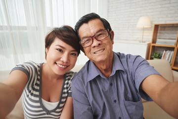 Selfie with granddaughter