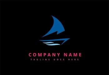 Sail boat  vector logo