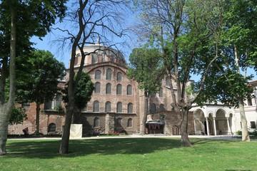 Famous Hagia Irene - a former Eastern Orthodox Church in Topkapi Palace Complex, Istanbul, Turkey