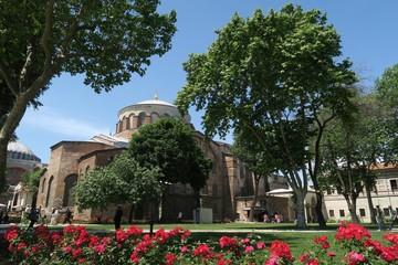 Beautiful Hagia Irene - a former Eastern Orthodox Church in Topkapi Palace Complex, Istanbul, Turkey