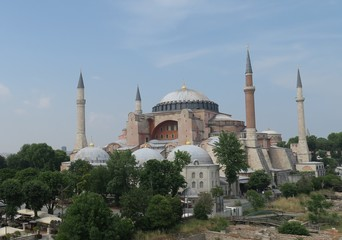 Hagia Sophia, Christian Orthodox Patriarchal Basilica, Imperial Mosque and now a Museum in Istanbul, Turkey