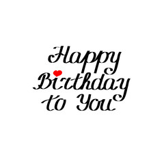happy birthday to you. vector text