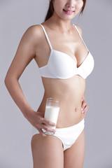 Milk and Health woman body