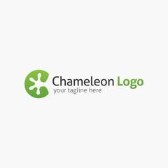 Chameleon logo design template. Vector illustration