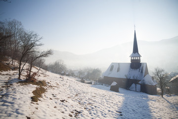 Wooden church in Barsana, Romania