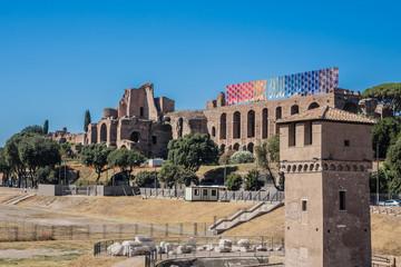 Circus Maximus - ancient Roman chariot racing stadium. Rome.