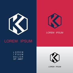 polygon letter K company logo