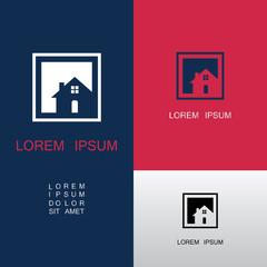 square home icon logo