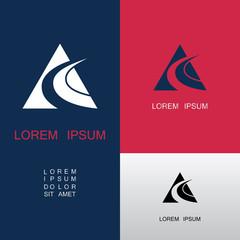 triangle shape swirl businerss logo