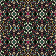 Foto op Textielframe Marokkaanse Tegels Ornate floral seamless texture, endless pattern with vintage mandala elements.