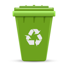 Green recycle outdoor container vector illustration isolated on