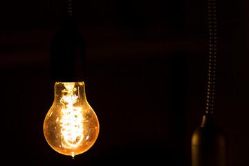 Light bulb in the dark, an idea ...
