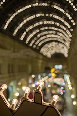 Xmas garland on blurred background