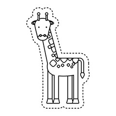 cute giraffe character icon vector illustration design