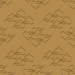 Heart red seamless pattern