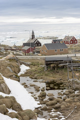 14.May.2016, Greenland. Traditional life in Ilulissat town at Greenland.