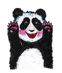 panda watercolor illustration