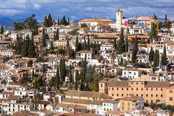 Neighborhood of the Albaicín. Granada.