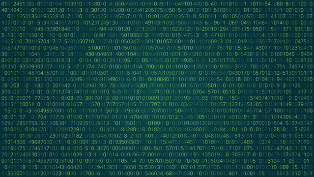 Abstract Technology Background. Binary Computer Code. Vector Ill