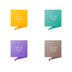 Set of colorful pointers. Vector illustration.