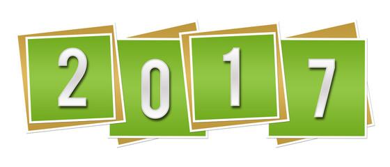 New Year 2017 Green Blocks