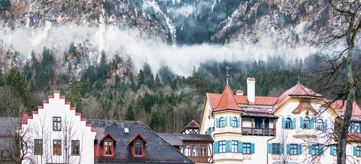 A small town in the Bavarian Alps - Germany