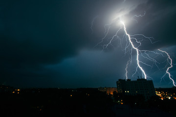 Lightning storm in Minsk